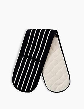 Classic Stripe Double Oven Glove, , catlanding