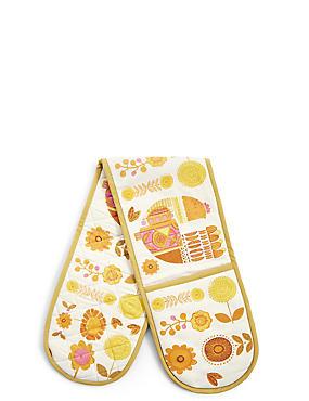 Marigold Double Oven Glove, , catlanding