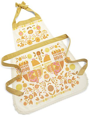 Marigold Frilly Apron, , catlanding