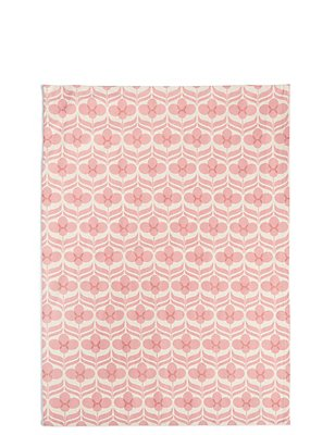 Marigold Geometric Print Single Tea Towel, , catlanding