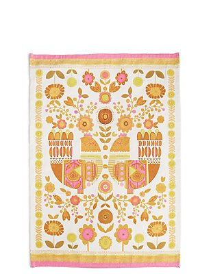 Marigold Hens Single Tea Towel, , catlanding