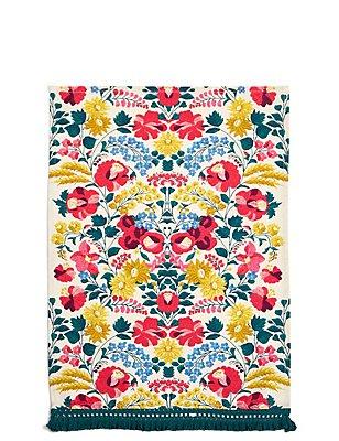 Floral Print Single Tea Towel, , catlanding
