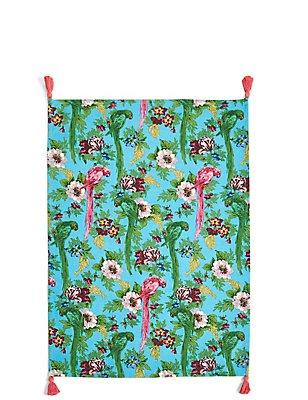 Frida Parrot Single Tea Towel, , catlanding