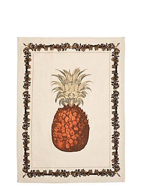 Pineapple Print Single Tea Towel, , catlanding