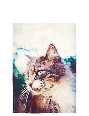 Printed Tea Towel, , catlanding