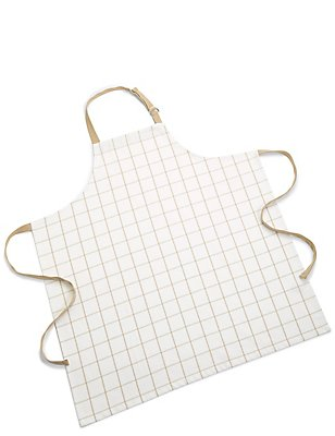 Cooks Checked Apron, NEUTRAL, catlanding