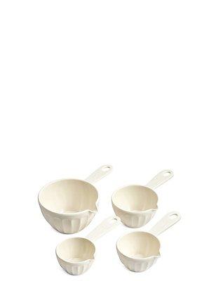 Set of 4 Melamine Measuring Cups, , catlanding