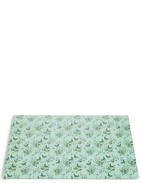 Dovecote Floral Glass Work Top Saver, , catlanding