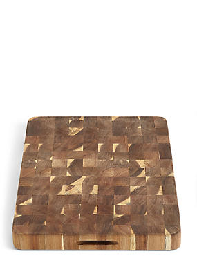 Acacia End Grain Chopping Board, , catlanding