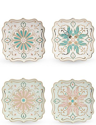 4 Pack Hollywood Cake Plate Set, , catlanding