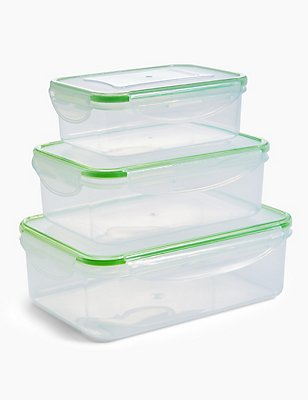 Set of 3 Clip Storage Containers, , catlanding