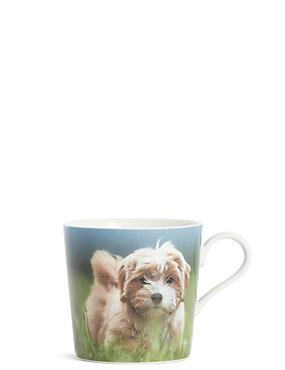 Fluffy Dog Digital Print Mug, , catlanding