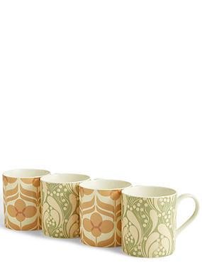 Set of 4 Marigold Mugs, , catlanding