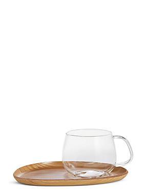 Cup & Wooden Saucer, , catlanding