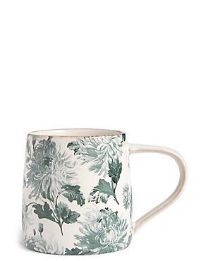 Antique Floral Print Mug, , catlanding