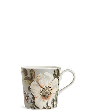 Dovecote Grey Floral Mug, , catlanding
