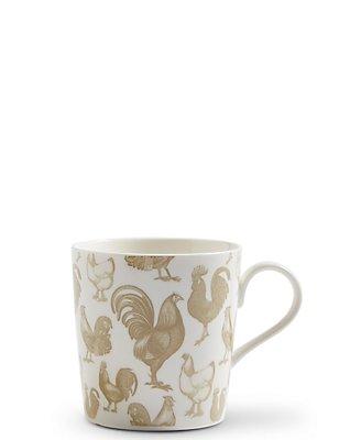 Hens Print Mug, , catlanding