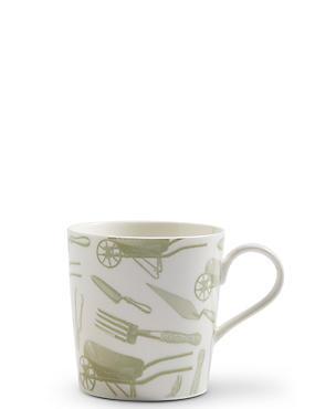 Gardening Print Mug, , catlanding