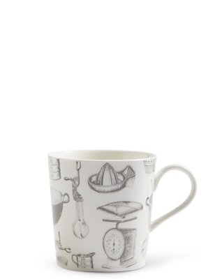 Baking Print Mug, , catlanding
