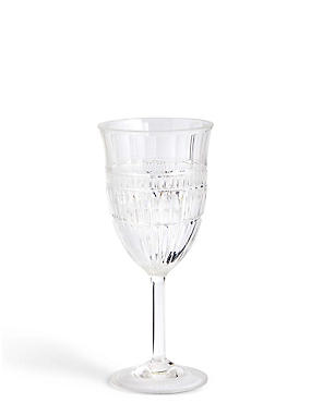 Picnic Cut Glass Effect Wine Glass, , catlanding