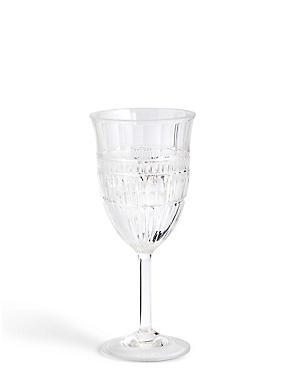 Verre à vin pour pique-nique style verre taillé, , catlanding
