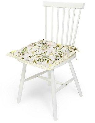 Dovecote Floral Seat Pad, , catlanding