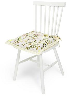 Dovecote– Galette de chaise à motif fleuri, , catlanding