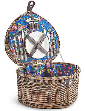 Frida Floral 2 Person Heart Hamper, , catlanding