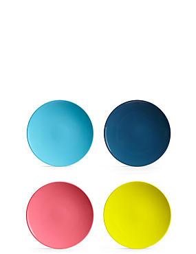 Set van 4 kleine bordjes van melamine, , catlanding