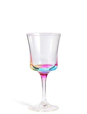 Picknick-Weinglas mit Regenbogenmuster, , catlanding