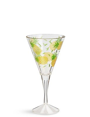 Pineapple Embossed Picnic Wine Glass, , catlanding