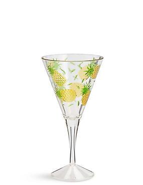 Pineapple Embossed Picnic Wine Glass, , catlanding