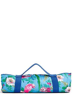 Frida– Couverture pour pique-nique à motif perroquet, , catlanding