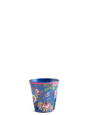 Frida Floral Print Beaker, , catlanding