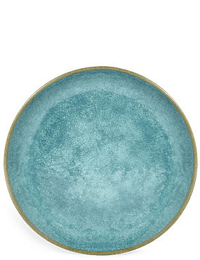Crackle Effect Melamine Dinner Plate, , catlanding