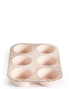 Vintage Bake Ceramic Muffin Tray, , catlanding