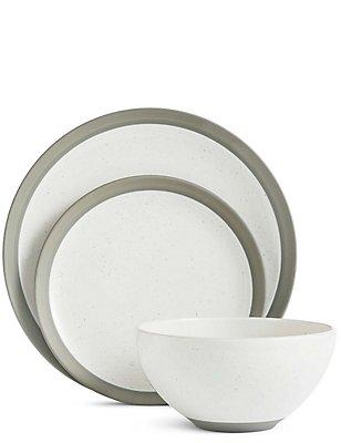 Bistro 12 Piece Dining Set, WHITE MIX, catlanding