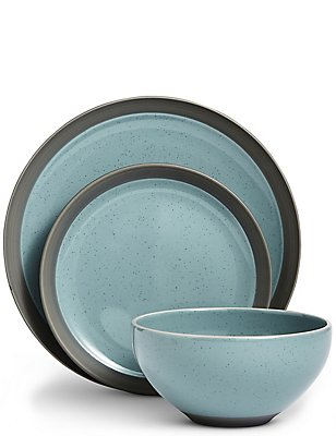 12 Piece Bistro Blue Dining Set, , catlanding