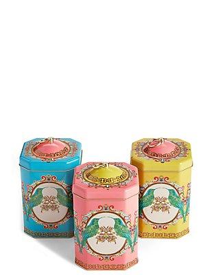 Frida Set of 3 Tea Coffee Sugar Tins, , catlanding