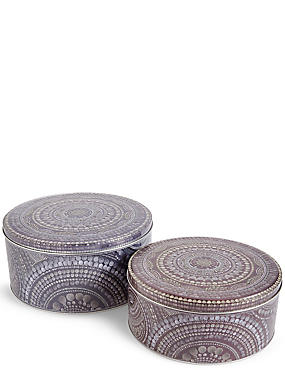 Set of 2 Winter Retreat Cake Tins, , catlanding
