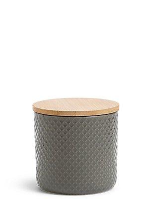 Textured Storage Jar Small, , catlanding