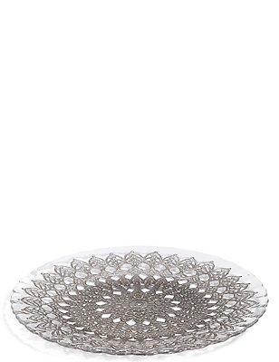 Pressed Glass Platter, , catlanding