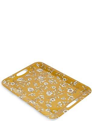 Ardingly– Melamin-Tablett mit Blumenmuster, , catlanding