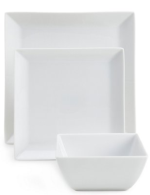 12 Piece Maxim Square Dinner Set, , catlanding