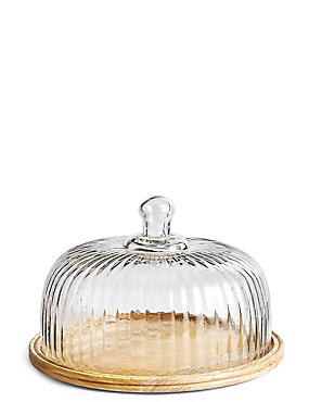 Wood & Glass Cheese Dome, , catlanding