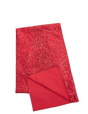 Sequin Table Runner, RED, catlanding