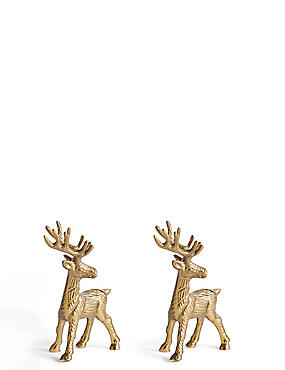 2 Pack Stag Place Card Holder, , catlanding