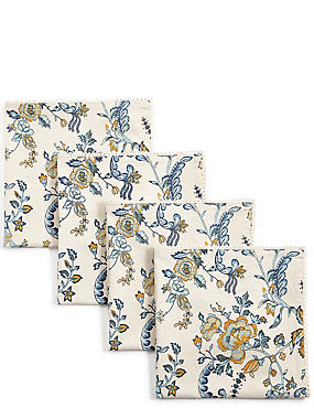4er-Pack Servietten mit Ardingly-Blumenmuster, , catlanding