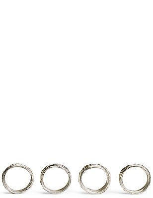 4 Pack Rope Twist Napkin Ring, , catlanding