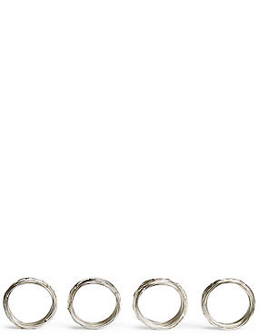 4 Pack Rope Twist Napkin Ring, , catlanding